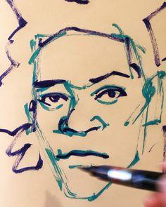 いいね!32件、コメント1件 ― @1mindrawのInstagramアカウント: 「#jeanmichelbasquiat #ジャンミシェルバスキア #basquiat #バスキア #painter #画家 #19601222 #birthday #1mindraw #一分描画…」