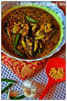Curries & Stories: Roshun Sorsher Macher Jhol (Garlic and Mustard Fish Curry)