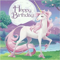 Descriptions Unicorn Fantasy 2 Ply Lunch Napkins Happy Birthday/Case of 192 - Design : Unicorn Fantasy - Capacity : 2 PLY Features - Occasion Girl Birthday - Folded Size approximately 5 inch square - Birthday Wishes Messages, Happy Birthday Quotes, Happy Birthday Images, Happy Birthday Greetings, Birthday Pictures, Unicorn Birthday Parties, Girl Birthday, Birthday Lunch, Birthday Celebration