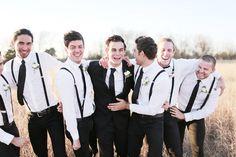 jacket for groom, suspenders for groomsmen | Feather & Twine #wedding