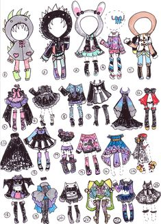 80pts Open-Buy an outfit by Guppie-Adopts on deviantART