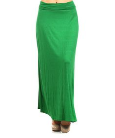 Look what I found on #zulily! Kelly Green Jersey Maxi Skirt by Pretty Young Thing #zulilyfinds Jersey Maxi Skirts, Kelly Green, Bright Green