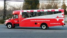 CMRT bus livery, based on the Maryland flag.