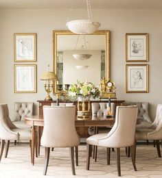 Large mirrors in dining room, Nice idea for a room that feels a bit ...