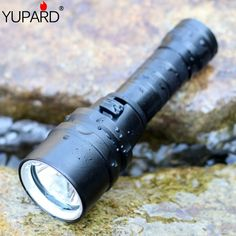 YUPARD Diving diver Waterproof underwear CREE XM-L2 LED T6 Flashlight Torch Light lamp For 1x18650 rechargeable battery camping