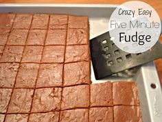 {Crazy Easy} Five Minute Fudge with a hint of butterscotch // Life a Little Brighter