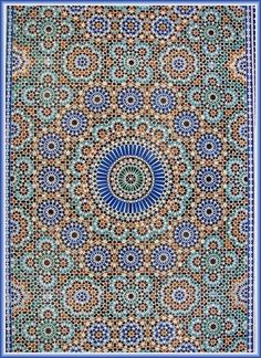 Absolutely beautiful Islamic art and design Tile Patterns, Pattern Art, Textures Patterns, Zentangle Patterns, Motif Oriental, Style Oriental, Islamic Art Pattern, Arabic Pattern, Tile Art