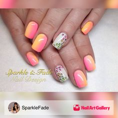 Neon Ombre And Leopard Print by SparkleFade via Nail Art Gallery #nailartgallery #nailart #nails #handpainted #hotpink #neon #fun #animalprint #leopardprint #gelnails #ombre #summernails