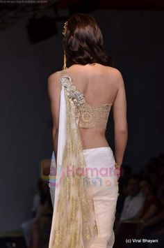one shoulder Saree blouse