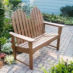 Classic Adirondack Bench $650 - requires no waterproofing, painting or staining to maintain bright color for years