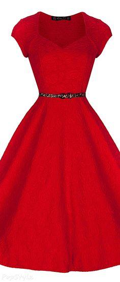 Lindy Bop 'Victoria' Sweetheart Vintage 50's Swing Dress