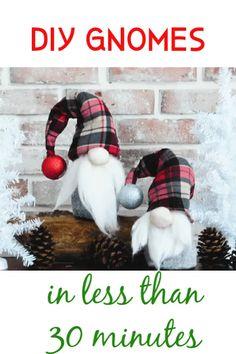 Christmas Gnome, Christmas Projects, Holiday Crafts, Christmas Ornaments, Scandinavian Christmas, Christmas Tables, Modern Christmas, Christmas Items, Handmade Christmas