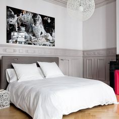 Une chambre grise pour harmoniser les styes
