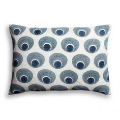 "sofa.com Peacock Eye pillow in Ink 22x15"" - $90"
