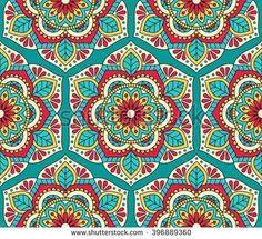 Seamless pattern with mandala.