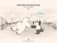 Every Day Is An Anniversary (even if we forget) | Panda and Polar Bear