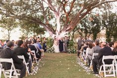 Tuscawilla Golf Course Wedding Ceremony   Navy & Blush Wedding - Plan It Events - Orlando Wedding Planner   www.planitcfl.com   Captured by Elle Photo