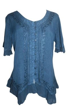 3e6d1324ee Agan Traders 305 B Medieval Bohemian Embroidered Bottom Shirt Blouse  Embroidered Shorts