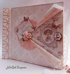 Libro de firmas...Mi primera comunión Guest book ... My first communion How To Make Scrapbook, Photo Album Scrapbooking, Mini Scrapbook Albums, Baby Scrapbook, Scrapbook Pages, Baby Mini Album, Mini Album Tutorial, Mini Albums Scrap, Wedding Book