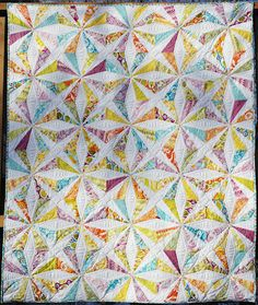 LOVE THIS QUILT! Pattern, fabric, quilting, everything!!