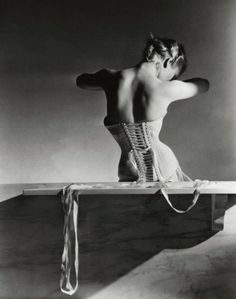 Horst P. Horst - Mainbocher Corset, Paris | From a unique collection of black and white photography at http://www.1stdibs.com/art/photography/black-white-photography/