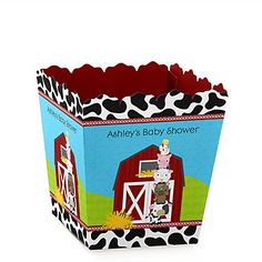 Farm Animals - Personalized Baby Shower Candy Boxes | BigDotOfHappiness.com