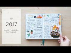 My 2017 Bullet Journal flipthrough - YouTube