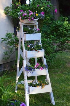 Weekend Project: Colorful Garden Ladder
