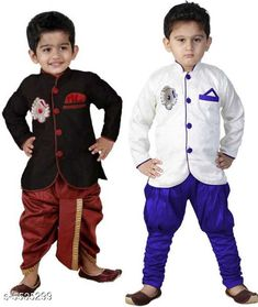 Sherwanis Kid's Boy's Sherwani's  Multipack: 2 Sizes:  4-5 Years (Chest Size: 27 in)  5-6 Years (Chest Size: 28 in)  1-2 Years (Chest Size: 23 in)  3-4 Years (Chest Size: 25 in)  6-7 Years (Chest Size: 29 in)  2-3 Years (Chest Size: 24 in) Country of Origin: India Sizes Available: 2-3 Years, 3-4 Years, 4-5 Years, 5-6 Years, 6-7 Years, 7-8 Years, 18-24 Months, 1-2 Years   Catalog Rating: ★4 (8555)  Catalog Name: Princess Elegant Kids Boys Sherwanis CatalogID_827120 C58-SC1172 Code: 434-5535299-
