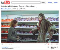 Snickers Halloween ad - this ad gives me the creeps!