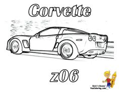 corvette coloring pages jackson pinterest corvette and clip art