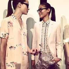 A blushing rockabilly moment at the J. Crew show.