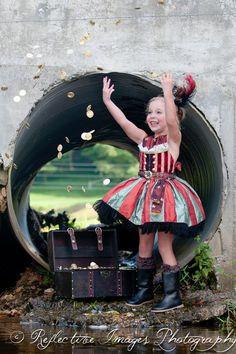 Girl's Pirate Costume Halloween Costume by FairytaleJubilee