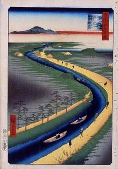 from Hiroshige's series,'100 Famous Views of Edo'