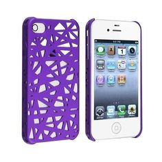 0909c07ca6632 eForCity Snap-on Case compatible with Apple iPhone 4 4S Dark Purple.
