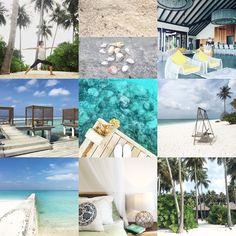 Im April habe ich das Paradies im Indischen Ozean gleich doppelt entdeckt. Auf den Inseln des North Malé Atolls Kanifushi und Helengeli. Im April war ich so auf meine bevorstehende Reise auf die Malediven fokussiert, dass ich mich nicht erinnern kann, an welchen nennenswerten Orten ich im April sonst noch gewesen sein sollte. Denn eigentlich spiegelt diese Rubrik ja mein sehrbuntes Yoga- und Reise-Dasein eines Monats wider. Egal, diese Collage mit den üblichen 9 Bildern beschreibt… Collage, Outdoor Decor, Pictures, Life, Home Decor, Maldives, Islands, Ocean, Paradise