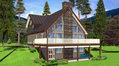 1950 sq can have basement    Lakefront House Plan chp-46186 at COOLhouseplans.com
