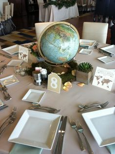 Real Wedding: Travel-Themed Reception Sneak Peek  Weddings by StarDust  Wedding Planning | Dallas, Texas