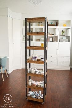 Rolling storage Shelves - Industrial Rolling Paint Storage Craft Room Part Craft Storage Box, Art Studio Storage, Paint Storage, Artist Storage, Studio Organization, Diy Furniture Projects, Wood Projects, Furniture Storage, Kitchen Furniture