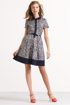 Get Dolled Up In These 11 Cool Collared Frocks #refinery29  http://www.refinery29.com/collared-dresses-spring#slide9  Kate Spade Stefania Dress, $398, available at Kate Spade.