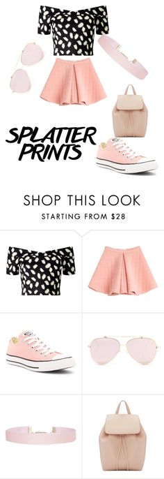 """""""Pinky Prints"""" by littleuna ❤ liked on Polyvore featuring Miss Selfridge, Marina Hoermanseder, Converse, Humble Chic and Mansur Gavriel"""