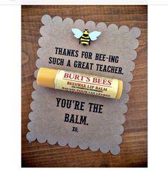 Cute DIY gift. Burts bees lip balm