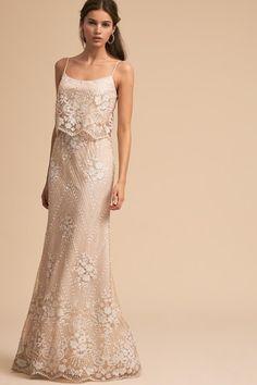 Ivory/nude Arden Dress   BHLDN