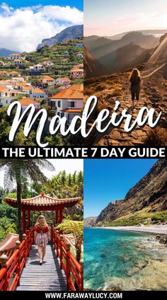 The Ultimate Seven Day Guide to Madeira Island, Portugal. What to see and do in Madeira, the Portuguese Island. Travel blog. Travel guide. Funchal. Monte. Monte Palace Tropical Garden. Wicker Toboggan Sled Ride. Santana. Porto Moniz Lava Pools. Valley of the Nuns. Nun Valley. Pico de Arieiro. Pico Ruivo. Machico. Ponta de Sao Lourenco. Porto da Cruz. Fajã dos Padres. Cabo Girão. Ribeira Brava. Ponta Do Sol. Seixal. São Vicente. Click through to read more... #madeira #portugal #travel