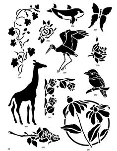 Nature Stencil Designs CD-ROM and Book - I love Giraffes  Again a free Dover image