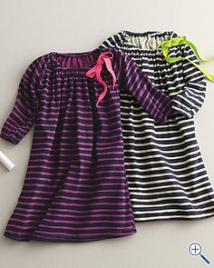 like the navy stripe dress with the neon yellow/green bow