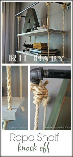 RH Baby Rope Shelf Knock Off