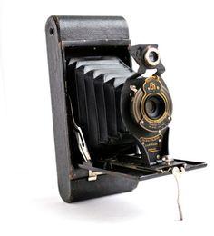 Antique Black Kodak Camera -  Art Deco 1910s No 2-A Folding Accordion Camera / Beautiful Bellows