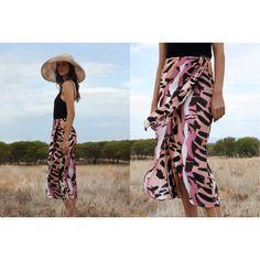 Printed wrap skirt, a summer straple. Shop via link in bio Print Wrap, Tie Dye Skirt, Bikinis, Swimwear, Beachwear, Style Inspiration, Prints, Pattern, Instagram Posts