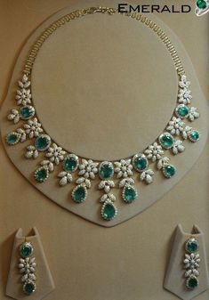 Spread your charm by adorning designer emerald jewelry #emeraldnecklace